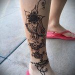 Фото Мехенди на щиколотке - 21072017 - пример - 059 Mehendi on ankles
