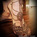 Фото Мехенди на щиколотке - 21072017 - пример - 065 Mehendi on ankles