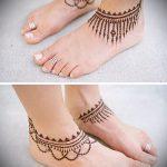 Фото Мехенди на щиколотке - 21072017 - пример - 066 Mehendi on ankles