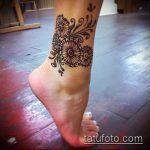 Фото Мехенди на щиколотке - 21072017 - пример - 082 Mehendi on ankles