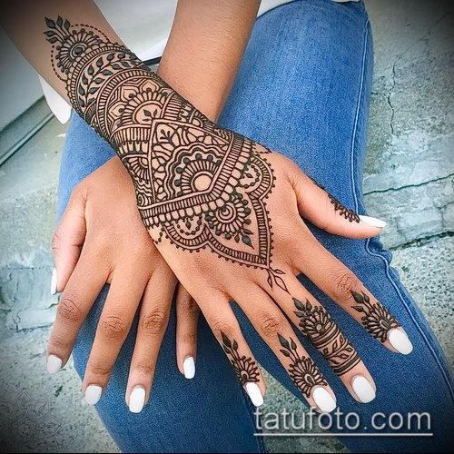 Фото браслет хной - 19072017 - пример - 002 Bracelet with henna