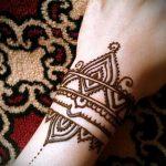 Фото браслет хной - 19072017 - пример - 025 Bracelet with henna