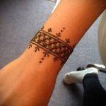 Фото браслет хной - 19072017 - пример - 027 Bracelet with henna