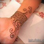 Фото браслет хной - 19072017 - пример - 061 Bracelet with henna