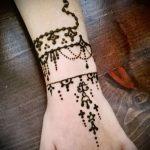 Фото браслет хной - 19072017 - пример - 072 Bracelet with henna