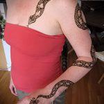 Фото змея хной - 21072017 - пример - 018 Snake with henna