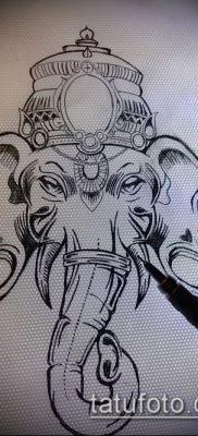 Фото тату Ганеша – 21072017 – пример – 002 Ganesha tattoo