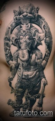 Фото тату Ганеша – 21072017 – пример – 003 Ganesha tattoo