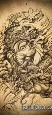 Фото тату Ганеша – 21072017 – пример – 011 Ganesha tattoo