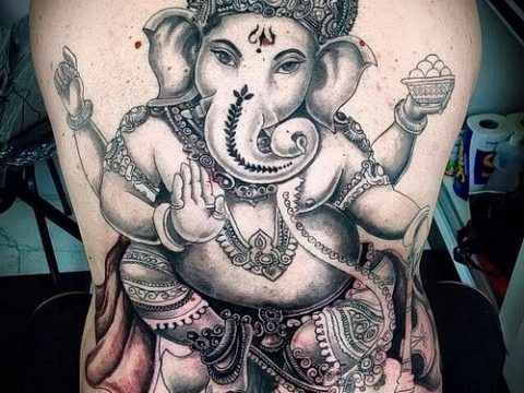 Фото тату Ганеша - 21072017 - пример - 020 Ganesha tattoo