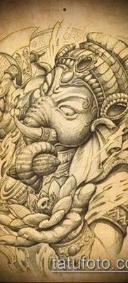 Фото тату Ганеша – 21072017 – пример – 023 Ganesha tattoo