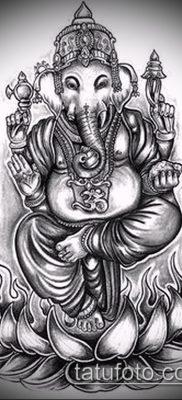 Фото тату Ганеша – 21072017 – пример – 030 Ganesha tattoo