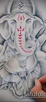 Фото тату Ганеша – 21072017 – пример – 039 Ganesha tattoo