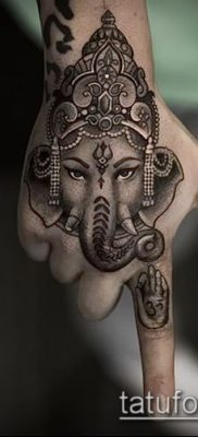 Фото тату Ганеша – 21072017 – пример – 040 Ganesha tattoo