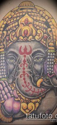 Фото тату Ганеша – 21072017 – пример – 045 Ganesha tattoo