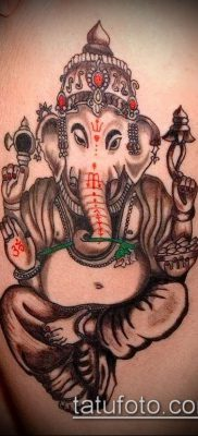 Фото тату Ганеша – 21072017 – пример – 049 Ganesha tattoo