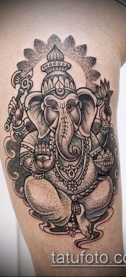 Фото тату Ганеша – 21072017 – пример – 051 Ganesha tattoo