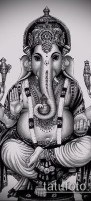 Фото тату Ганеша – 21072017 – пример – 053 Ganesha tattoo