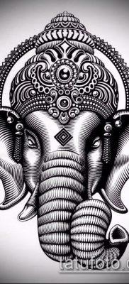 Фото тату Ганеша – 21072017 – пример – 059 Ganesha tattoo