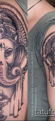 Фото тату Ганеша – 21072017 – пример – 061 Ganesha tattoo