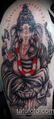Фото тату Ганеша – 21072017 – пример – 065 Ganesha tattoo