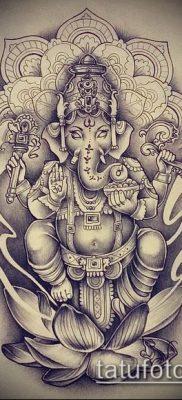 Фото тату Ганеша – 21072017 – пример – 075 Ganesha tattoo