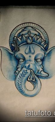 Фото тату Ганеша – 21072017 – пример – 076 Ganesha tattoo