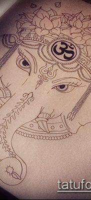 Фото тату Ганеша – 21072017 – пример – 077 Ganesha tattoo