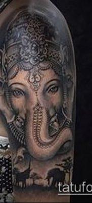 Фото тату Ганеша – 21072017 – пример – 081 Ganesha tattoo