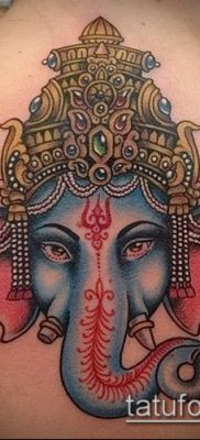 Фото тату Ганеша – 21072017 – пример – 083 Ganesha tattoo