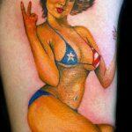 тату бикини №646 - эксклюзивный вариант рисунка, который удачно можно использовать для преобразования и нанесения как tattoo bikini