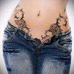 тату бикини №853 - прикольный вариант рисунка, который легко можно использовать для переделки и нанесения как тату бикини глубокое