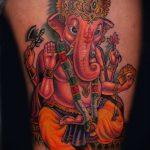 тату богов №446 - уникальный вариант рисунка, который удачно можно использовать для доработки и нанесения как тату богов майя