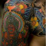 тату богов №855 - уникальный вариант рисунка, который успешно можно использовать для переработки и нанесения как тату богов индии