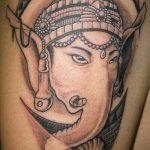 тату богов №889 - эксклюзивный вариант рисунка, который хорошо можно использовать для преобразования и нанесения как татуировки богов греции