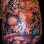 тату богов №137 - крутой вариант рисунка, который удачно можно использовать для переработки и нанесения как тату богов рима