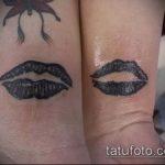 тату губы №400 - достойный вариант рисунка, который успешно можно использовать для переработки и нанесения как тату губы на руке