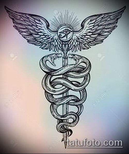 Фото тату крылья Гермеса - 06072017 - пример - 007 Tattoo wings of Hermes