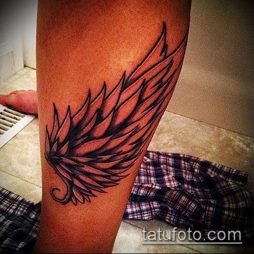 Фото тату крылья Гермеса - 06072017 - пример - 028 Tattoo wings of Hermes