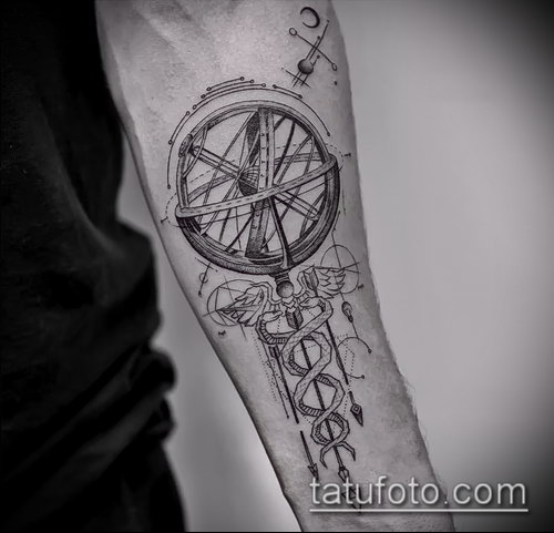 Фото тату крылья Гермеса - 06072017 - пример - 034 Tattoo wings of Hermes