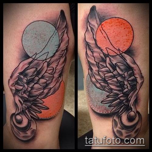 Фото тату крылья Гермеса - 06072017 - пример - 048 Tattoo wings of Hermes