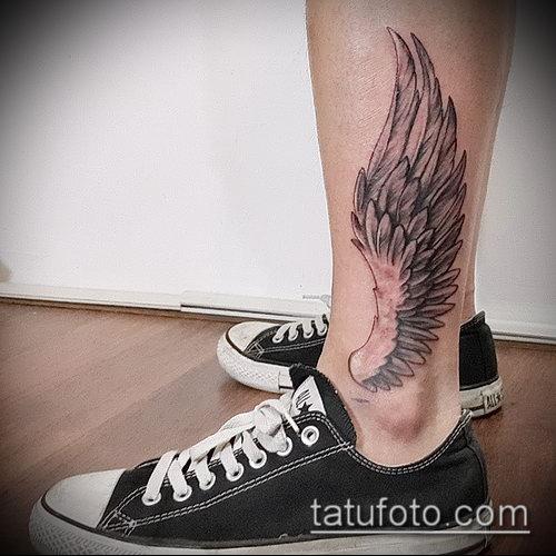Фото тату крылья Гермеса - 06072017 - пример - 060 Tattoo wings of Hermes