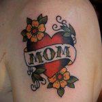 тату мама №833 - интересный вариант рисунка, который хорошо можно использовать для доработки и нанесения как тату мама в сердечке