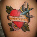 тату мама №2 - классный вариант рисунка, который легко можно использовать для переделки и нанесения как тату мама с ребенком