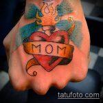 тату мама №84 - эксклюзивный вариант рисунка, который легко можно использовать для преобразования и нанесения как тату мама в сердечке