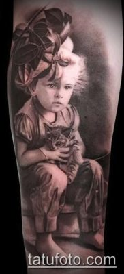 Фото тату портрет своего ребе – 01072017 – пример – 036 Tattoo portrait child_tatufoto.com