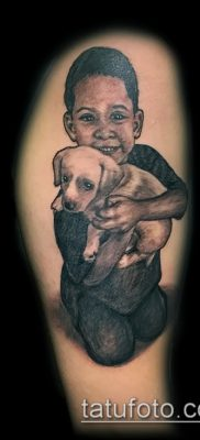 Фото тату портрет своего ребе – 01072017 – пример – 039 Tattoo portrait child_tatufoto.com