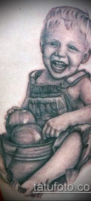 Фото тату портрет своего ребе – 01072017 – пример – 067 Tattoo portrait child_tatufoto.com