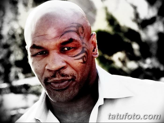 фото Тату Майка Тайсона на лице от 29.07.2017 №002 - Mike Tyson's Tattoo Face Tattoo