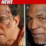 фото Тату Майка Тайсона на лице от 29.07.2017 №011 - Mike Tyson's Tattoo Face Tattoo